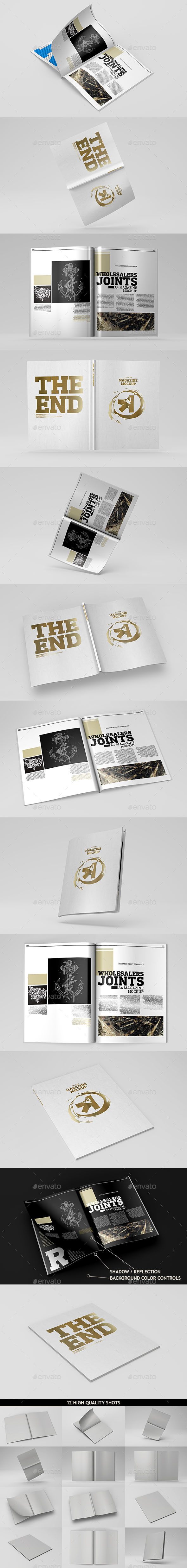 A4 Magazine  Catalog Mockup - Magazines Print
