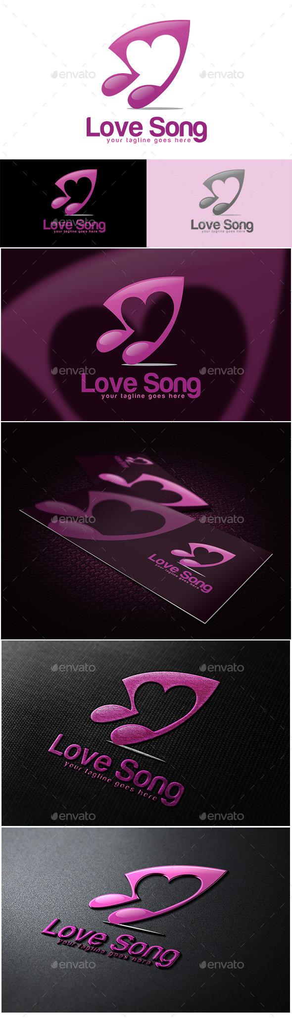 Love Song Logo - Symbols Logo Templates
