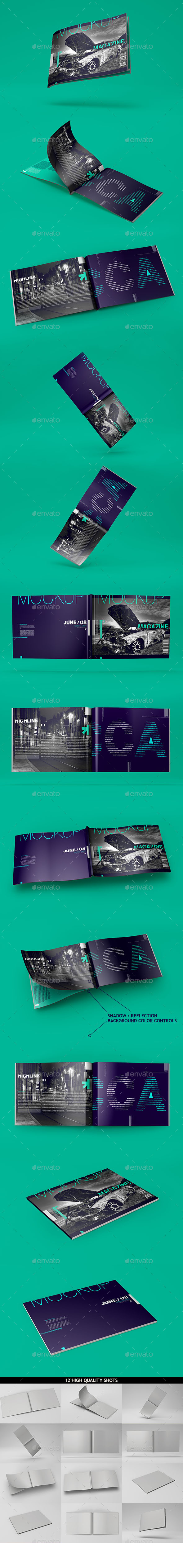 Horizontal A4 Magazine Catalog Mockup - Magazines Print
