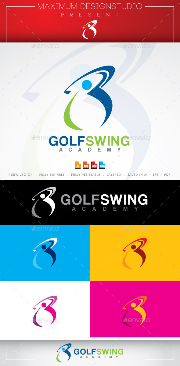 Golf Swing Logo - Symbols Logo Templates
