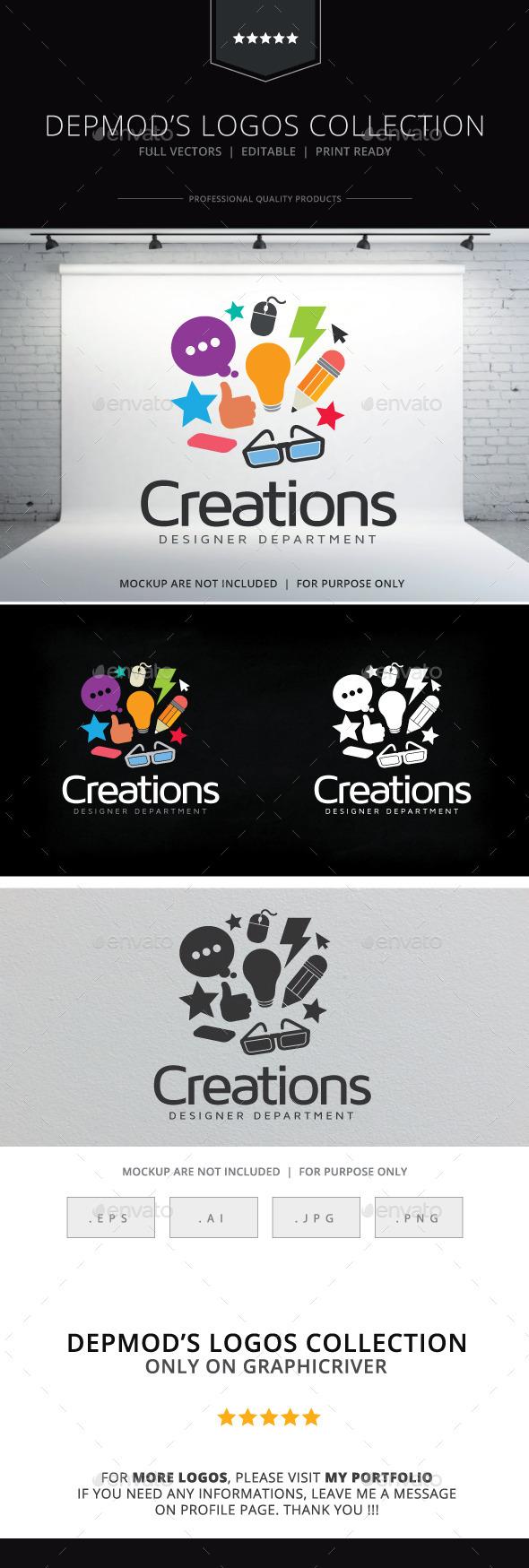 Creations Logo - Symbols Logo Templates
