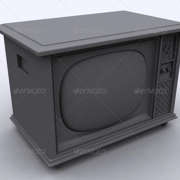 Old TV - 3DOcean Item for Sale