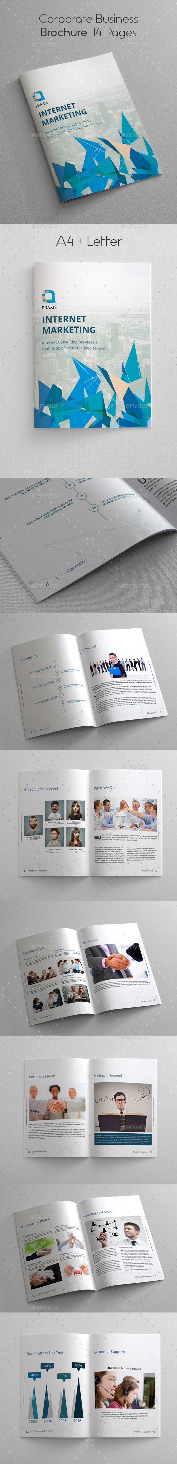 Corporate Business Brochure 14 Pages - Corporate Flyers