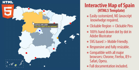 Interactive map of spain html5 by art101 codecanyon interactive map of spain html5 codecanyon item for sale gumiabroncs Images