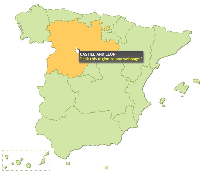 Interactive Map Of Spain HTML By Art CodeCanyon - Interactive us map html5