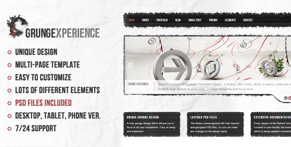 Grungexperience - Premium Muse Template