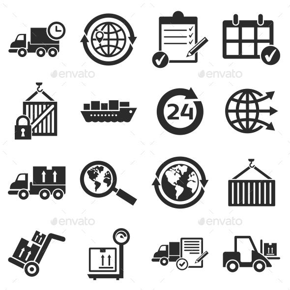 Logistics Icons - Web Icons