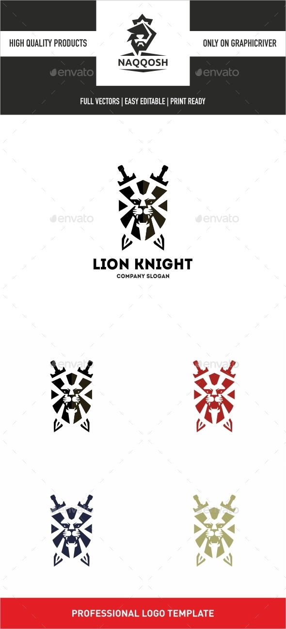 Lion Knight  - Symbols Logo Templates