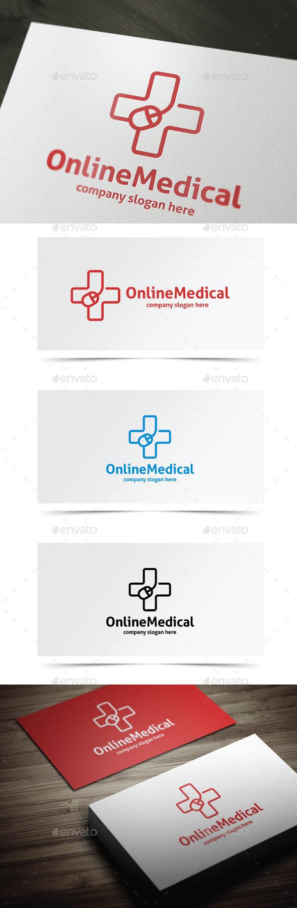 Online Medical - Symbols Logo Templates