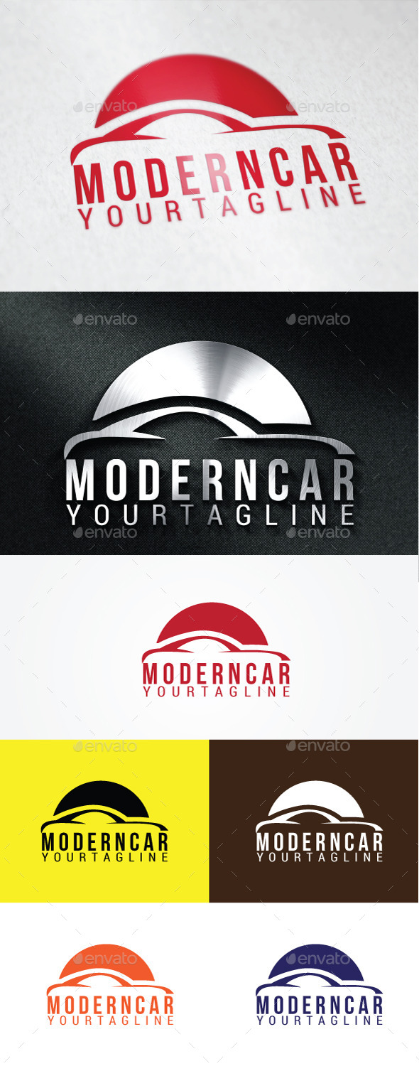 Modern Car Logo Templates - Abstract Logo Templates