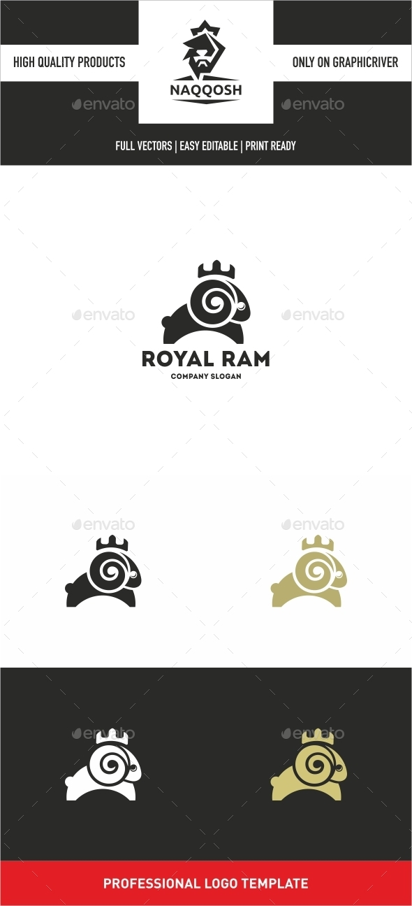 Royal Ram  - Symbols Logo Templates