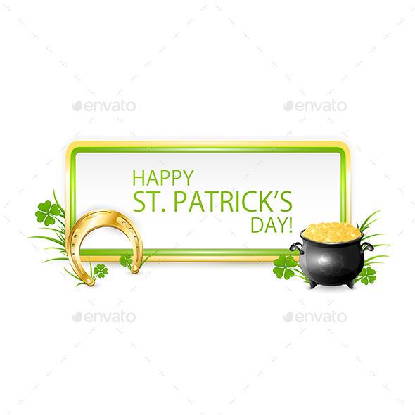 Patricks Day Banner - Decorative Symbols Decorative