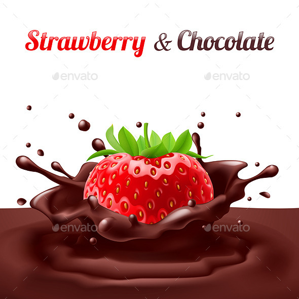 Strawberry and Chocolate - Food Objects