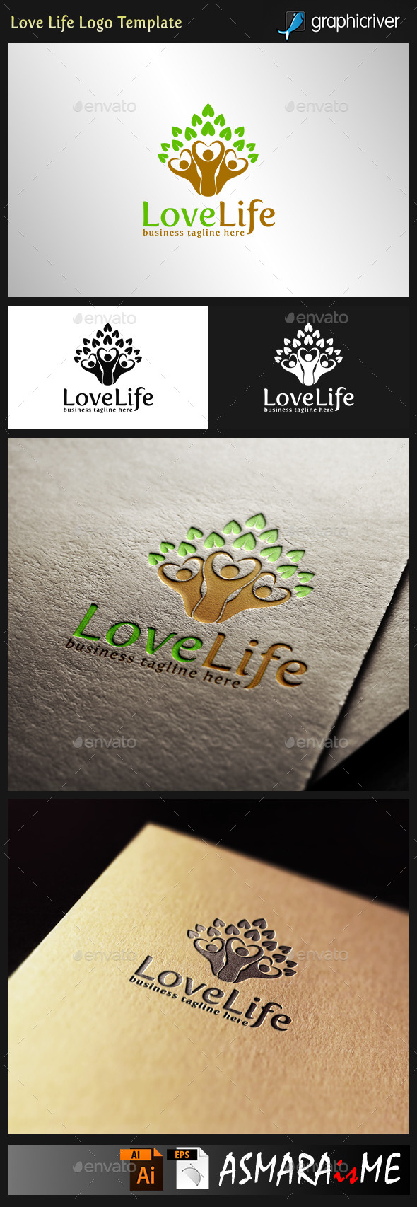 Love life - Healthy Logo - Humans Logo Templates