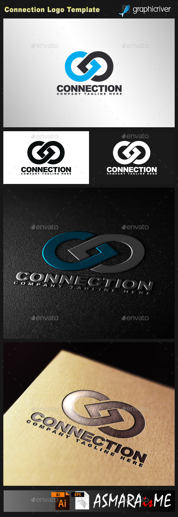 Connection Logo - Abstract Logo Templates
