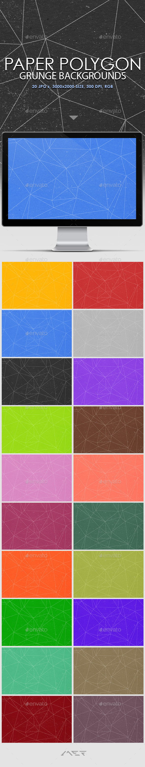 Paper Polygon Grunge Backgrounds - Abstract Backgrounds