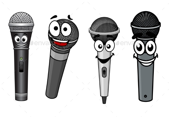 Cartoon Microphones - Miscellaneous Characters