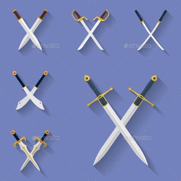 Ancient Swords Icons - Man-made Objects Objects
