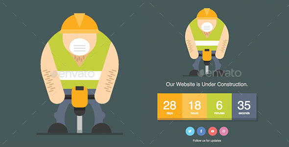 Jackhammer - Under Construction Page - 404 Pages Web Elements