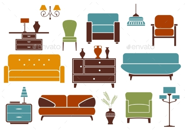 Furniture and Interior Design Elements - Man-made Objects Objects