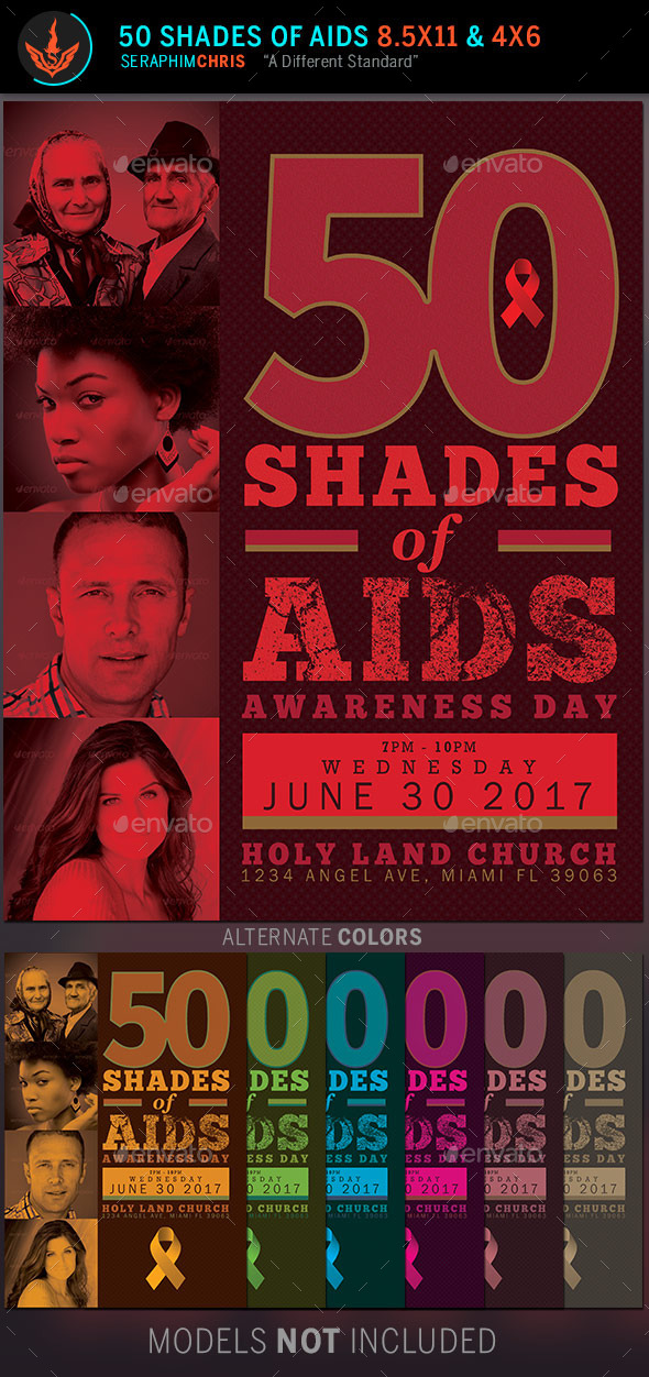 50 shades of aids church flyer template church flyers