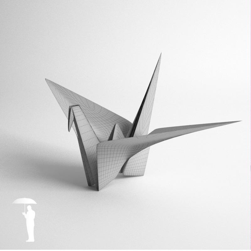 Origami Crane By KonradRakowski