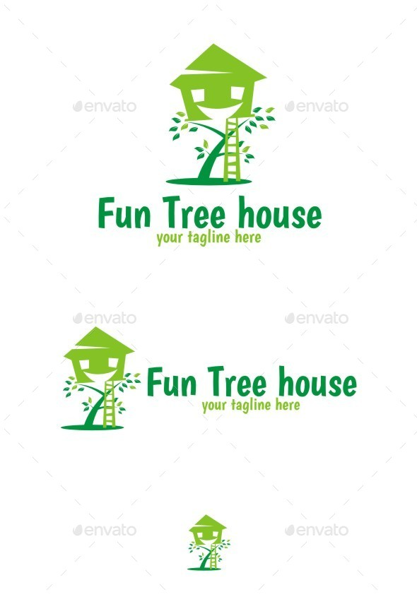 Fun Tree Logo - Nature Logo Templates