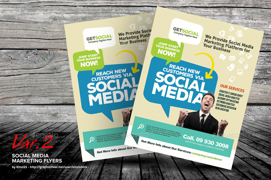 Social Media Marketing Flyer Templates by kinzishots – Product Flyer Template