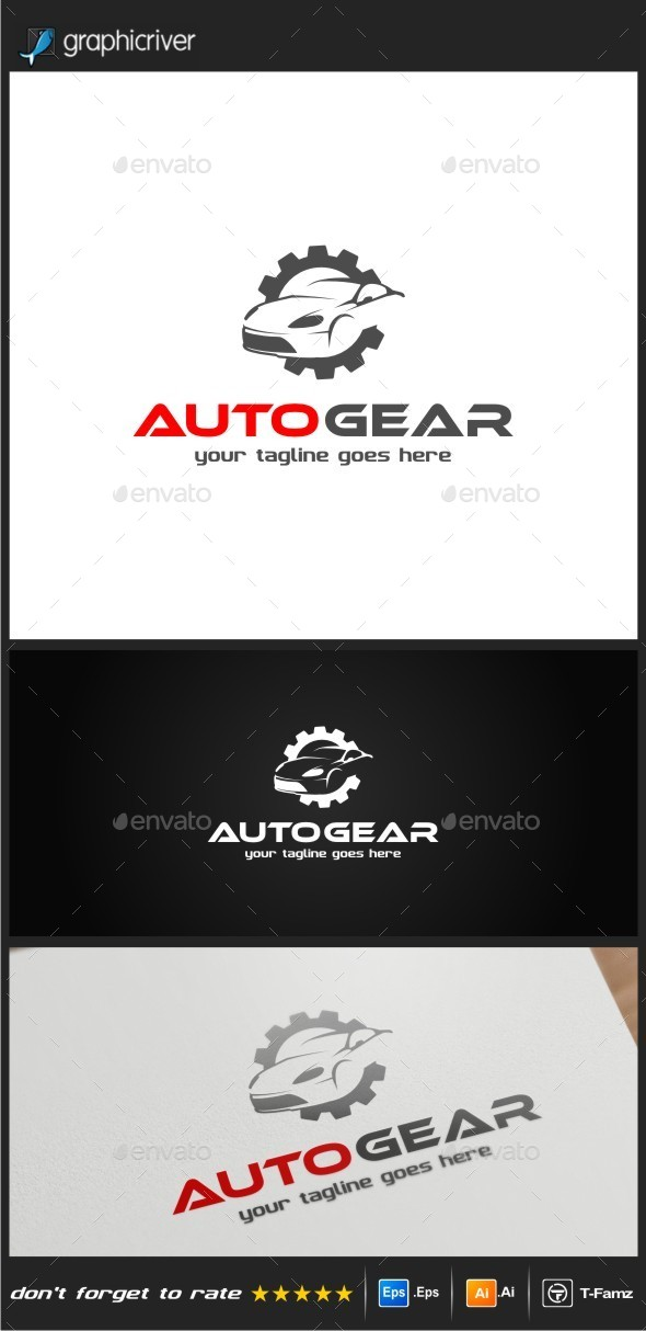 Auto Gear Logo Templates - Objects Logo Templates