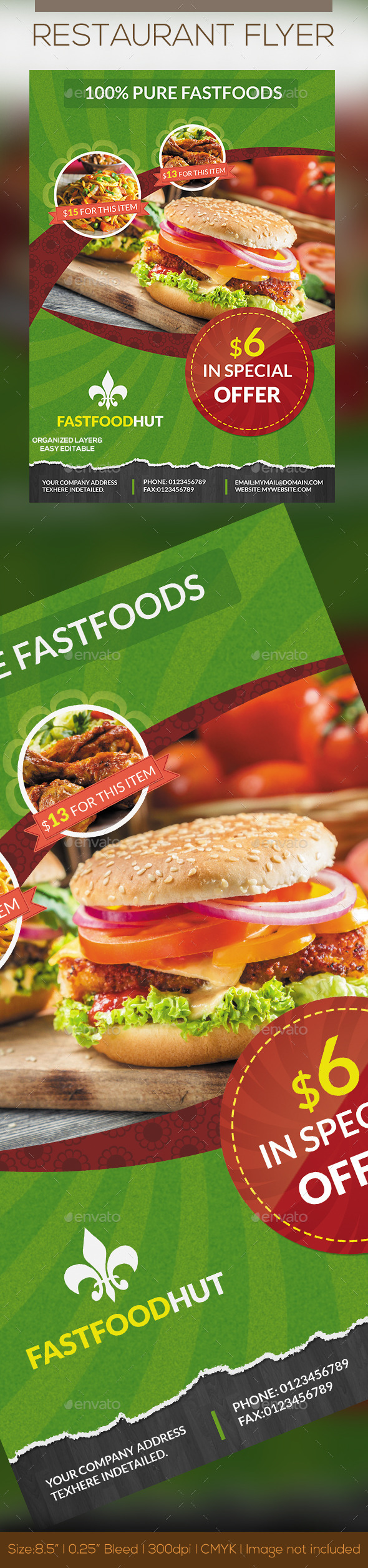 Foods Flyer - Restaurant Flyers