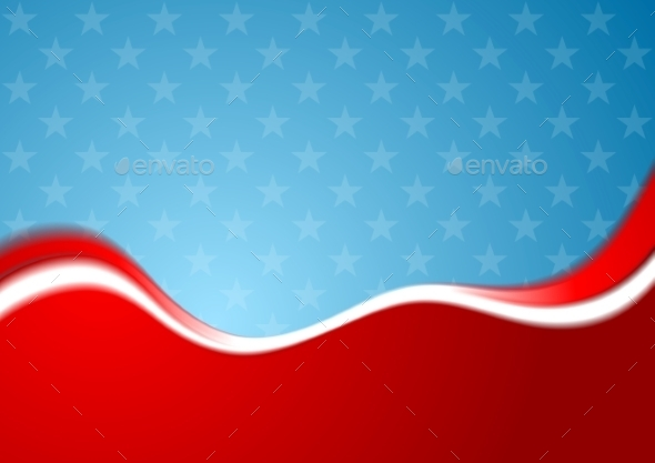 Abstract USA Background - Backgrounds Decorative