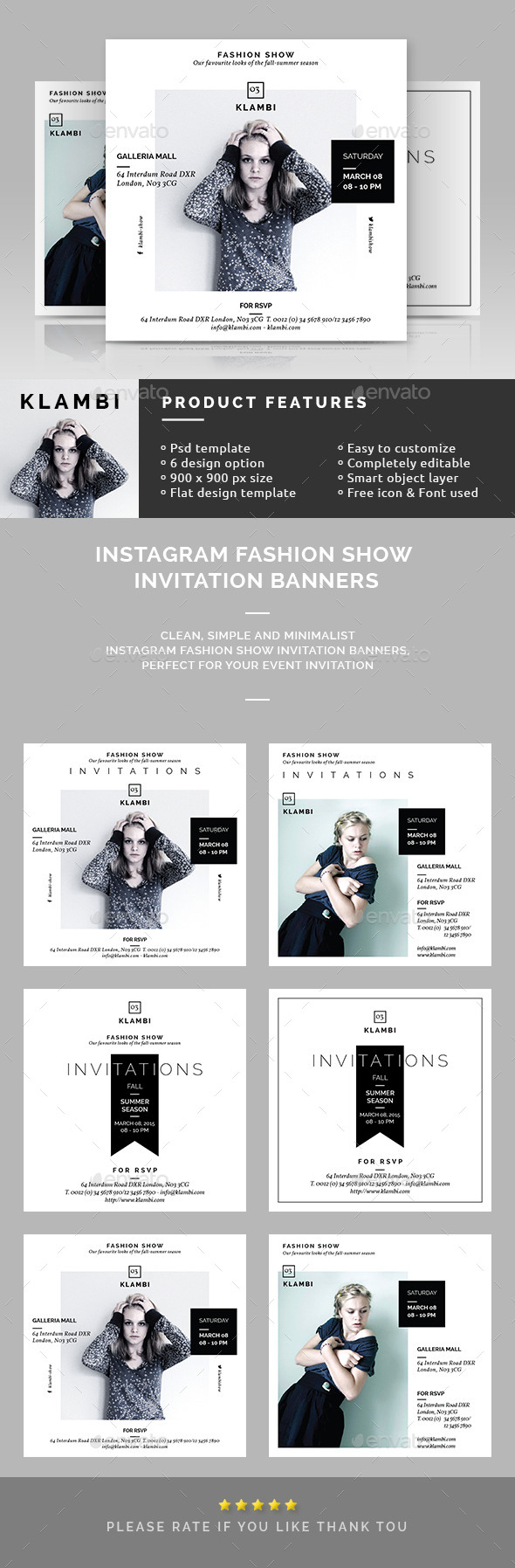 Instagram Fashion Show Invitation Banners - Miscellaneous Social Media
