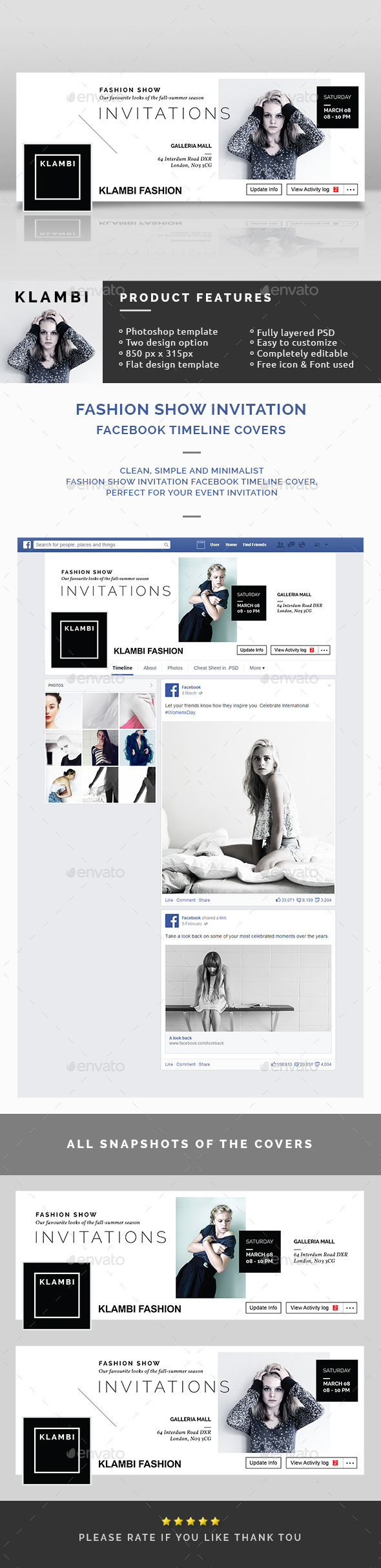 Fashion Show Invitation Facebook Timeline Covers - Facebook Timeline Covers Social Media