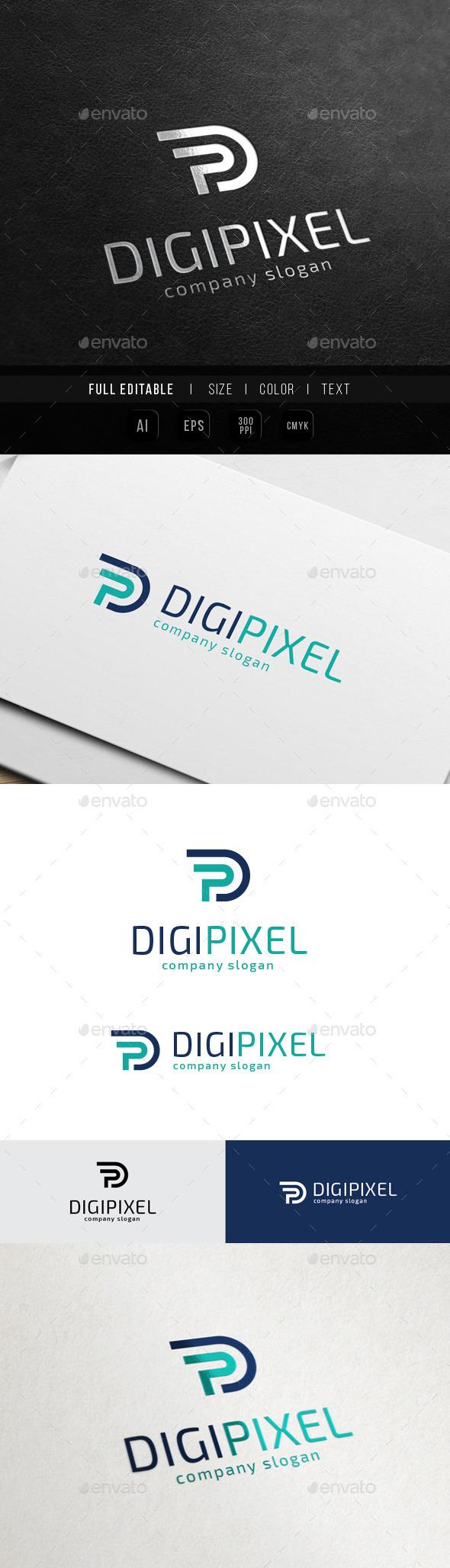 Digital Production - Letter P / PD - Letters Logo Templates