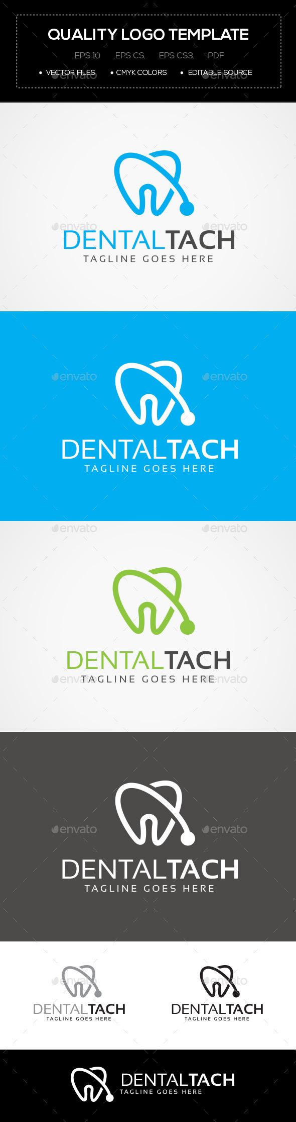 Dental Tach Logo Template - Abstract Logo Templates