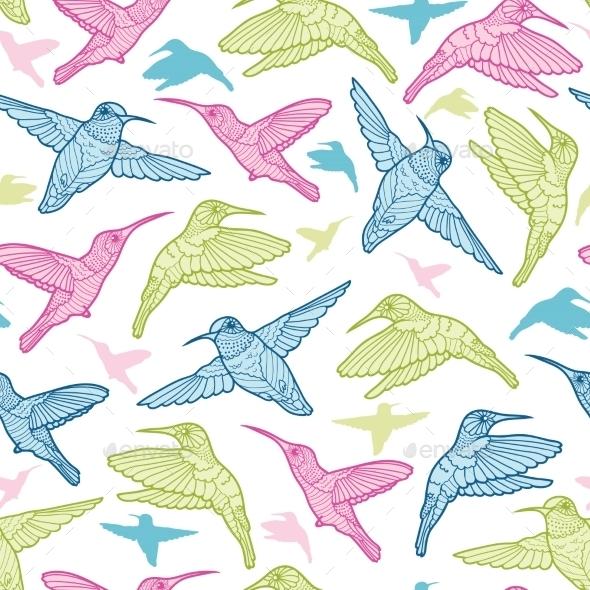 Hummingbird Pattern  - Decorative Vectors
