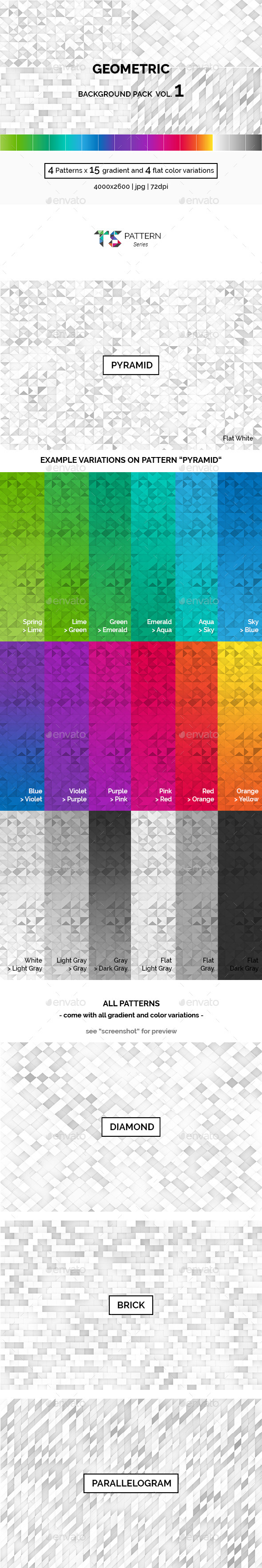 Geometric Background Pack Vol.1 - Abstract Backgrounds