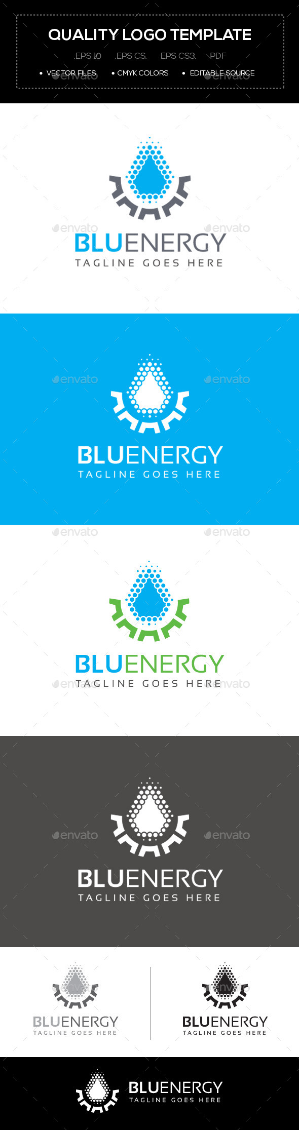 Blu Energy Logo Template - Abstract Logo Templates