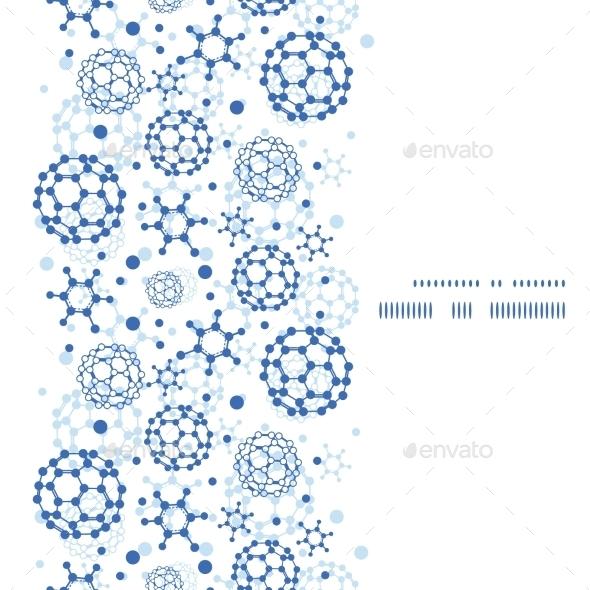 Vector Blue Molecules Texture Vertical Frame - Borders Decorative