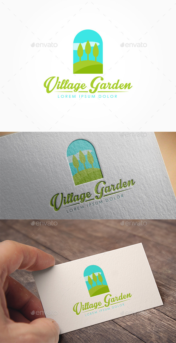 Village Garden Logo - Nature Logo Templates