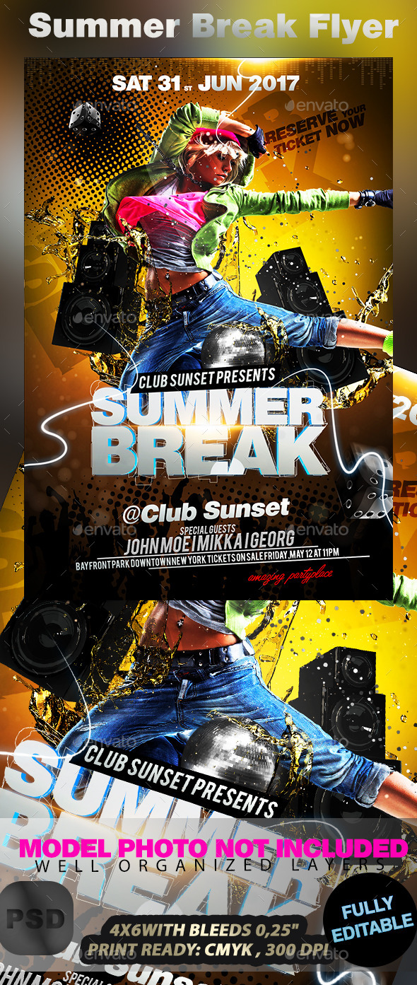 Summer Break Flyer - Events Flyers