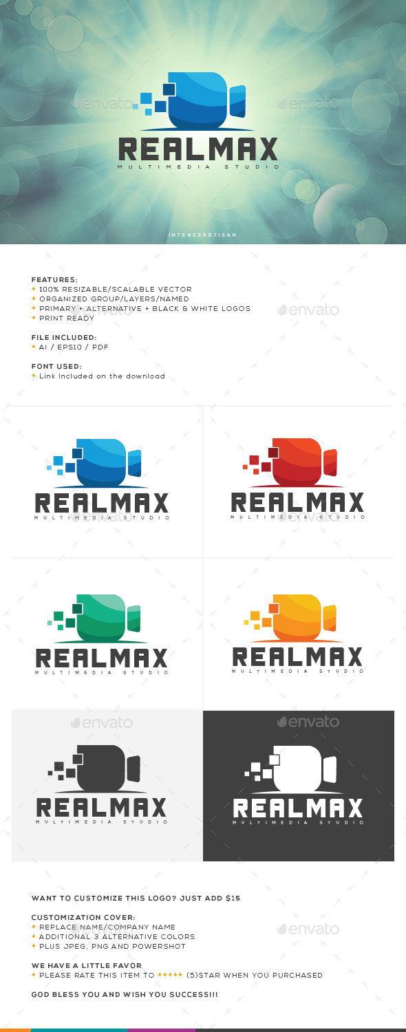 Realmax Logo Template - Objects Logo Templates