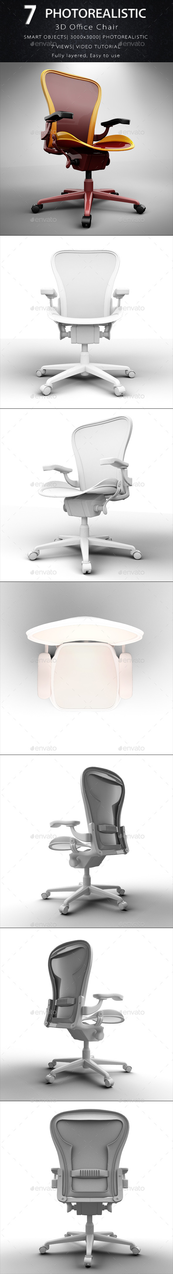 Office Chair - Objects 3D Renders