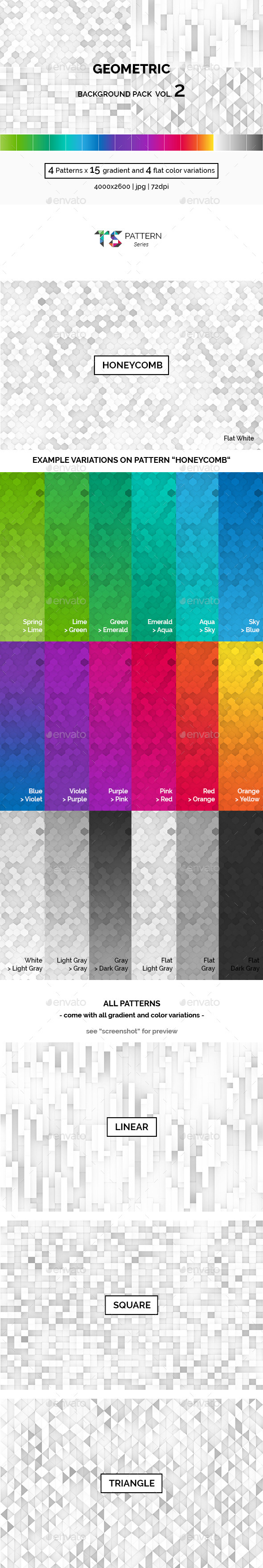 Geometric Background Pack Vol.2 - Patterns Backgrounds