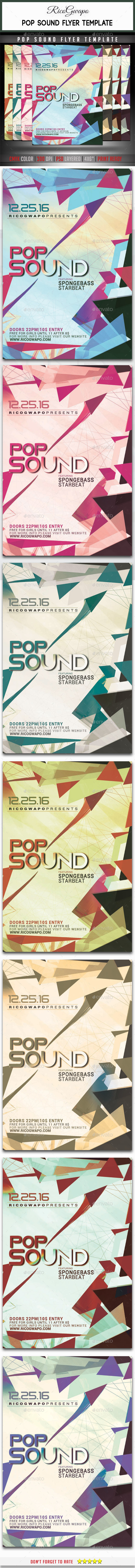 Pop Sound Flyer Template - Events Flyers