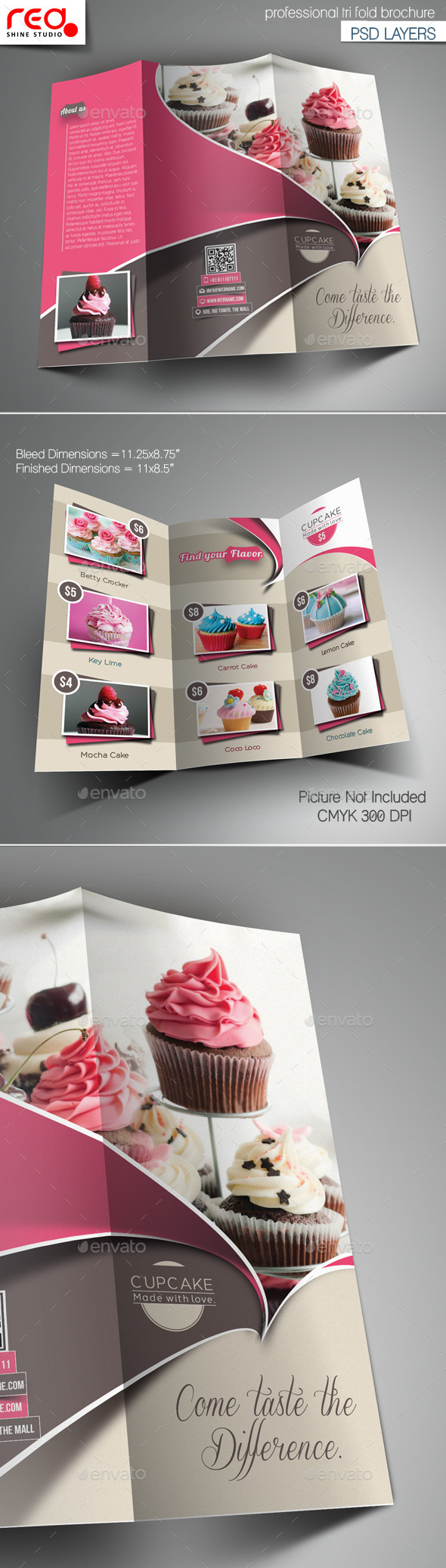 Cupcake Trifold Brochure Template - Brochures Print Templates