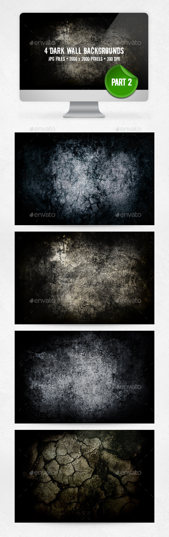 Dark Wall Backgrounds - Part 2 - Abstract Backgrounds