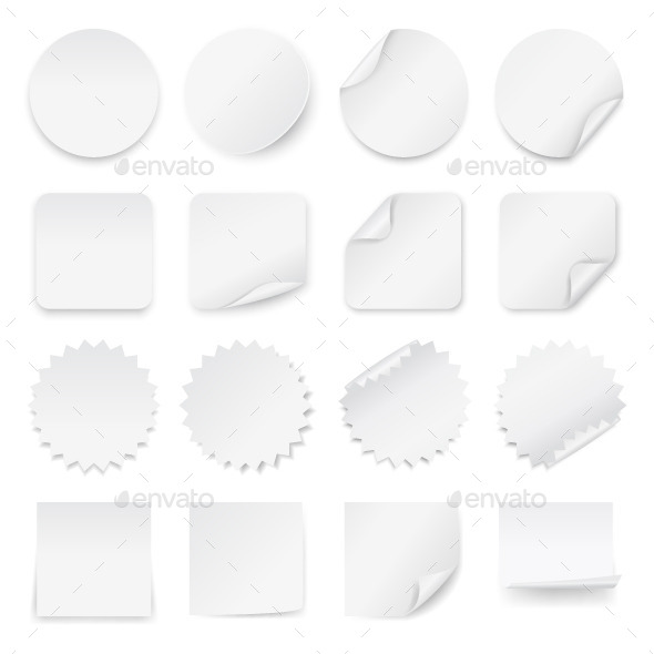Blank White Labels  - Web Elements Vectors