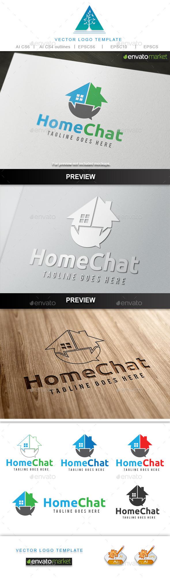 Home Chat Logo - Symbols Logo Templates