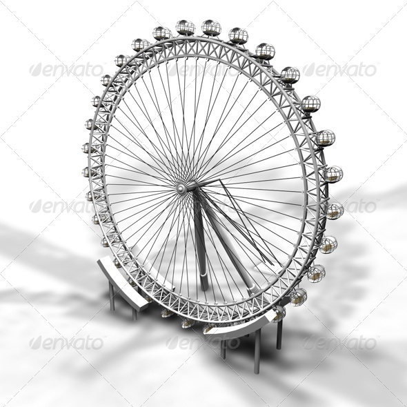 London Eye - 3DOcean Item for Sale